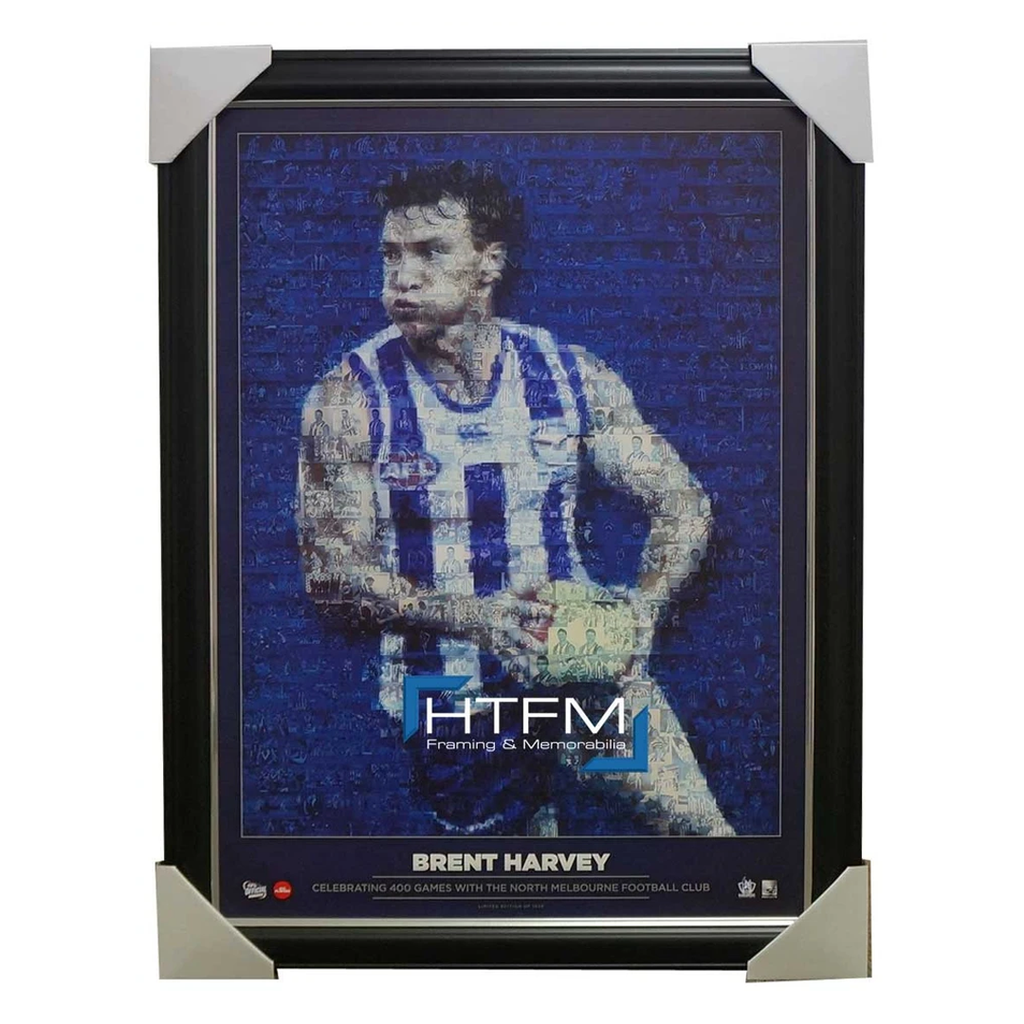 Brent Harvey the 400 Club Kangaroos Mosaic Print Framed Official Afl - 2517