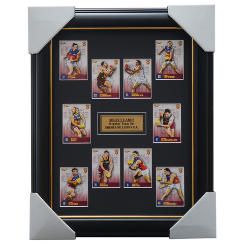 Brisbane Lions 2021 AFL Select Team Card Set Framed Neale Rayner Zorko - 4636