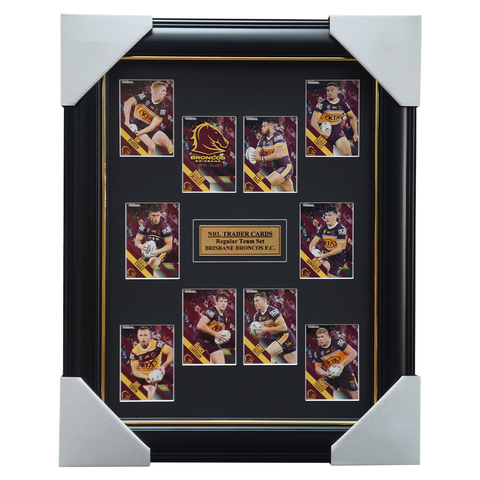 2021 NRL Traders Cards Brisbane Broncos Team Set Framed Carrigan Haas Oates  - 4647
