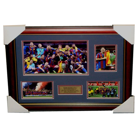 Barcelona 2011 Champions League Winners Collage Framed - 3536