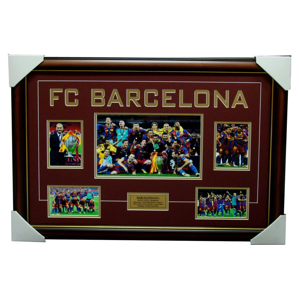 Barcelona 2011 Champions League Winners Collage Framed - 4098
