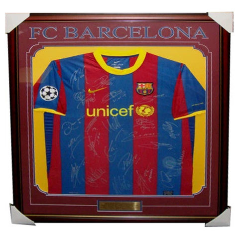 Barcelona CL Signed Jersey Framed 2010/11 x 22 sigs - 3350