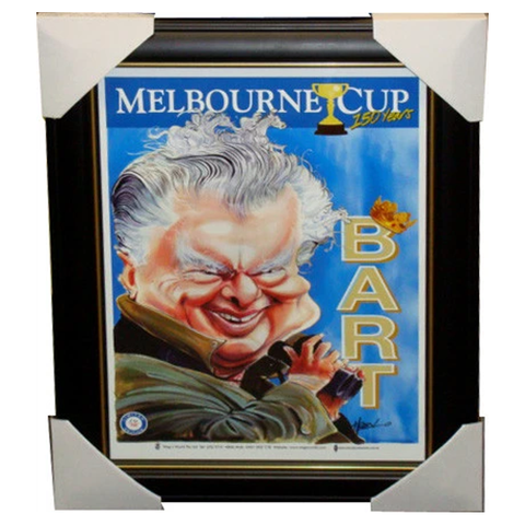 Bart Cummings 150 Year Melbourne Cup Wegs World Print Framed - 3879