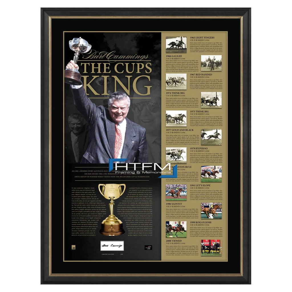 "Bart Cummings Hand Signed ""The Cup Kings"" L/E Lithograph Framed - 2546"