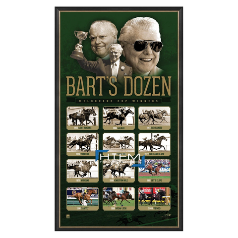 "Bart Cummings Melbourne Cup Tribute Print ""Barts Dozen"" Framed - 2550"