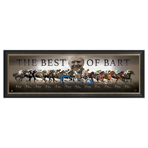 "Bart Cummings ""The Best of Bart"" Melbourne Cup Tribute VRC Print Framed - 2551"