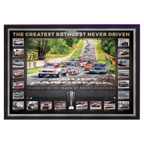 Bathurst The Greatest Bathurst Never Driven Official Print Framed - 3593
