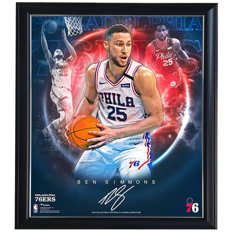 Ben Simmons Philadelphia 76ers Facsimile Signature Official NBA Print Framed - 4427