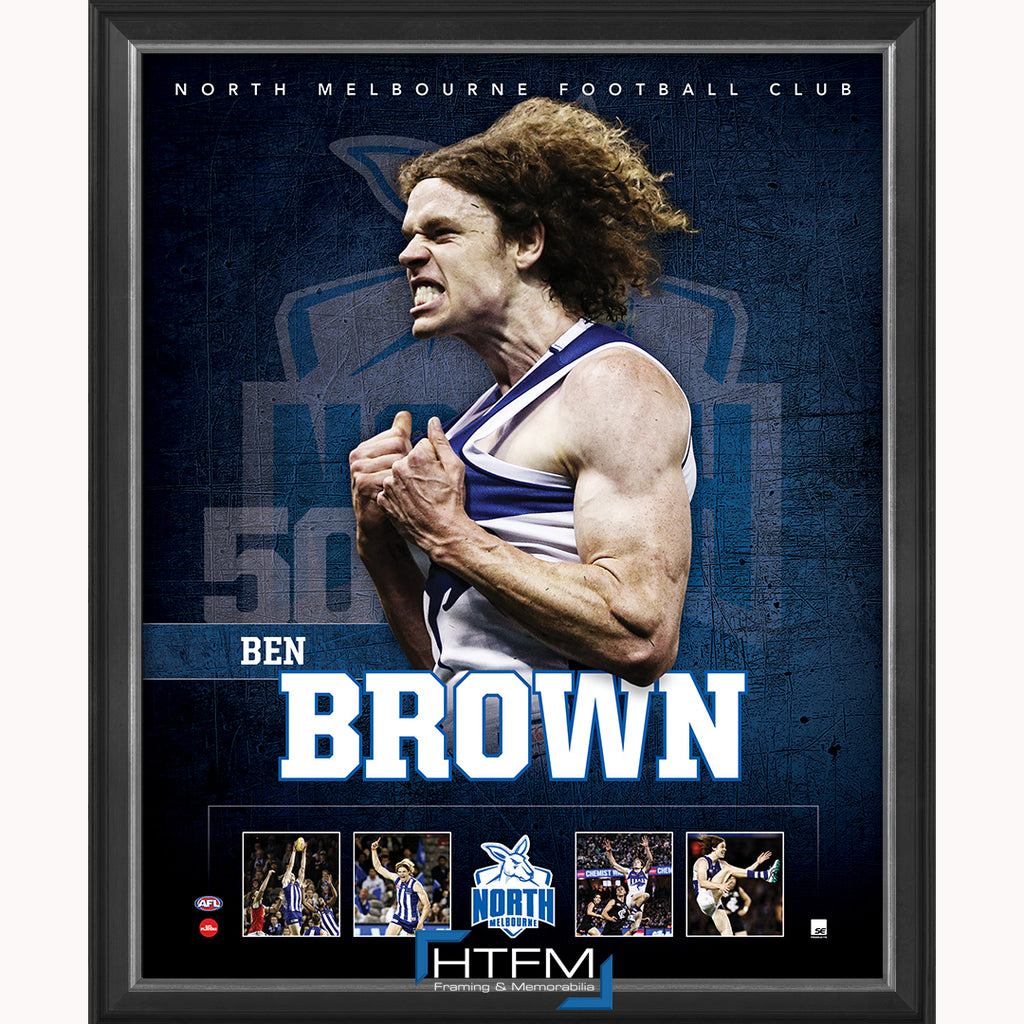 Ben Brown North Melbourne F.C. Official Licensed AFL Print Framed NEW - 3709