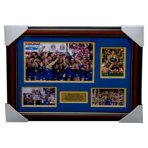 Ben Cousins West Coast 2006 Premiers Signed Photo Collage Framed - 3147