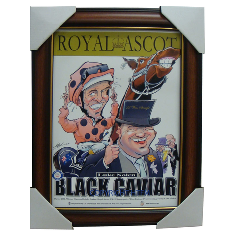 Black Caviar Royal Ascot Limited Edition Print Framed Luke Nolen Peter Moody - 1591