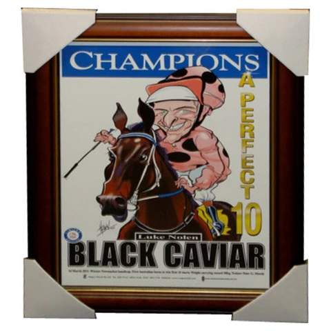 "Black Caviar ""The Perfect Ten"" Wegs World Limited Edition Print - 3842"