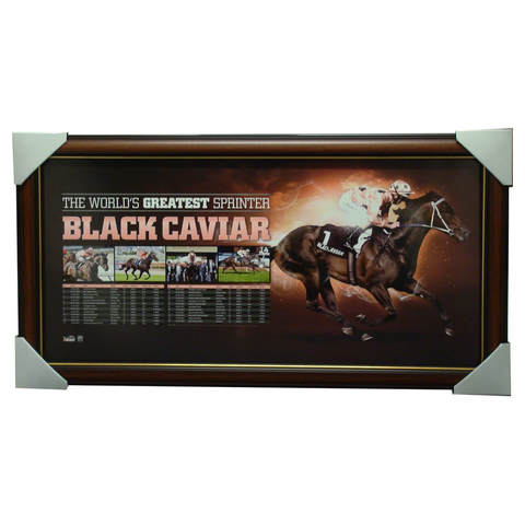 "Black Caviar The Worlds Greatest Sprinter ""Retirement"" Sports Print Framed - 1287"