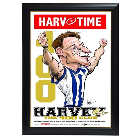 Brent Harvey, 400 Club, Harv Time Print Framed - 4277