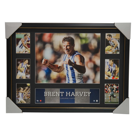 Brent Harvey Kangaroos Super Frame AFL Official Collage Framed North Melbourne - 2894