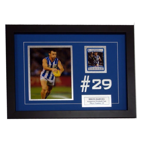 Brent Harvey North Melbourne Signed Card Collage Framed - 4032