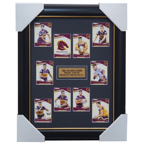 2020 NRL Traders Cards Brisbane Broncos Team Set Framed Boyd Milford Gillett  - 4018