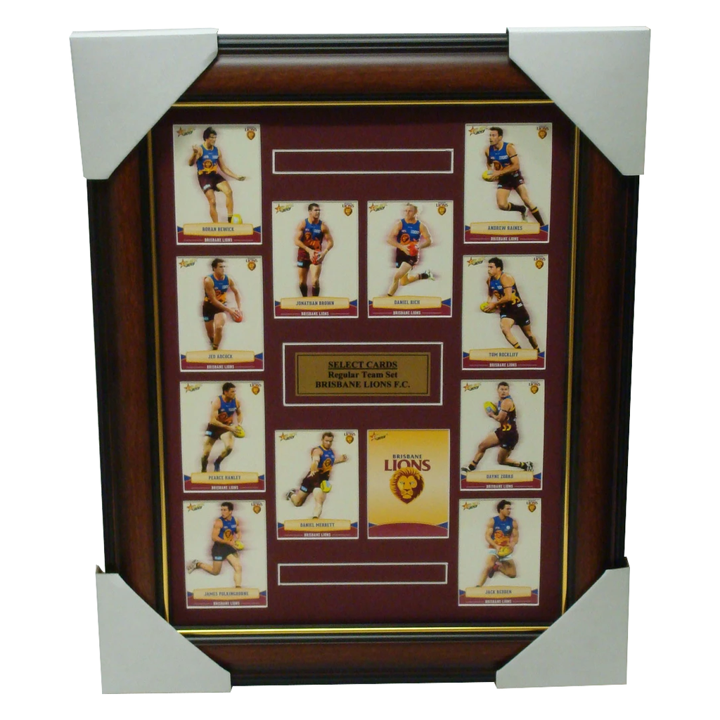 Brisbane Lions 2013 Afl Select Cards Complete Set Framed - 1188