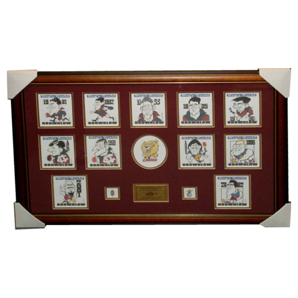 Brisbane Lions & Fitzroy Brownlow Medallist Limited Edition Prints Framed