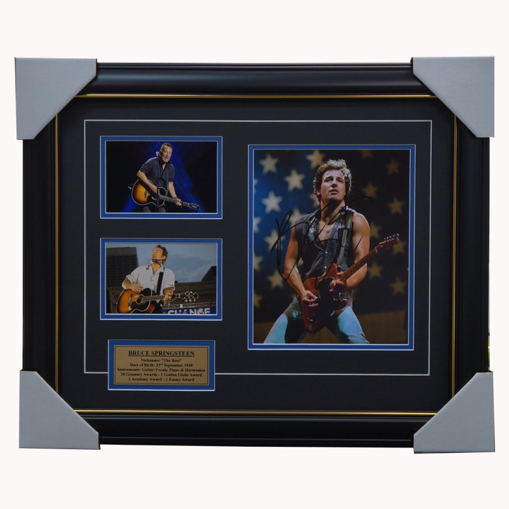 "Bruce Springsteen Signed Photo Framed ""the Boss"" - 3652"