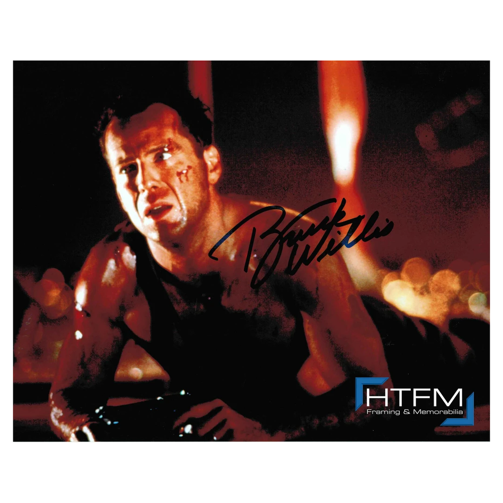 Bruce Willis Signed Photo Framed with Plaque - 2793