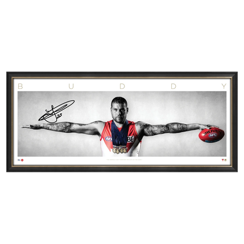 Buddy Franklin Signed Sydney Swans AFL Official Wings Print Framed 2017 Coleman Medallist - 3157