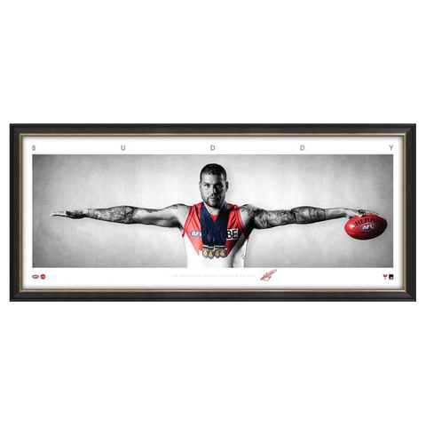 Buddy Franklin Signed Sydney Swans Mini Wings Official AFL Print Framed NEW - 3755