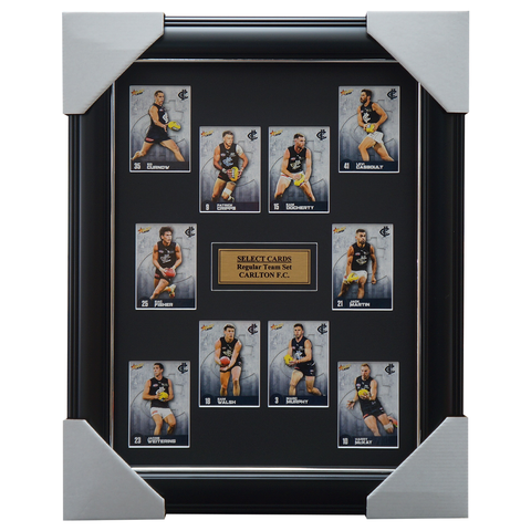 Carlton 2021 Select AFL Team Card Set Framed Patrick Cripps Walsh - 4642