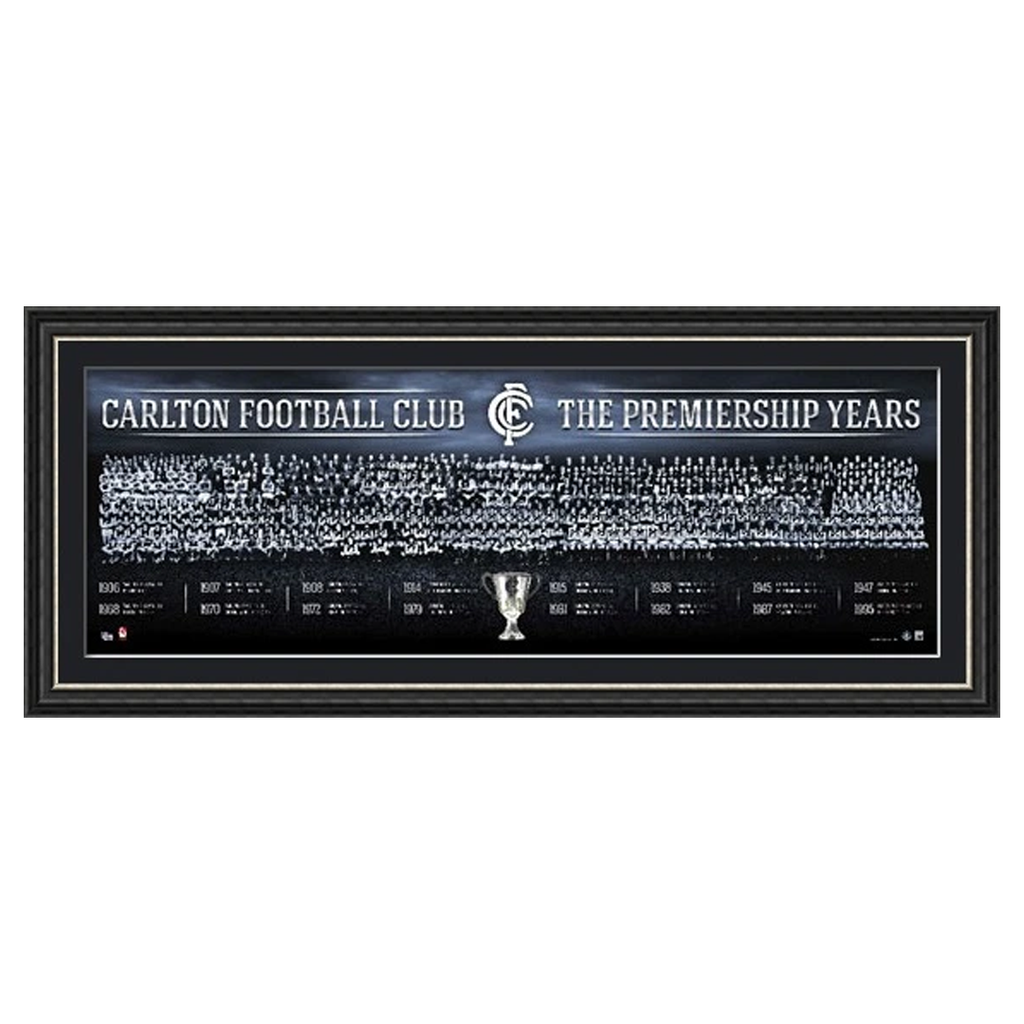 Carlton the Premiership Years Montage Afl Official Licensed Print Framed - 1723