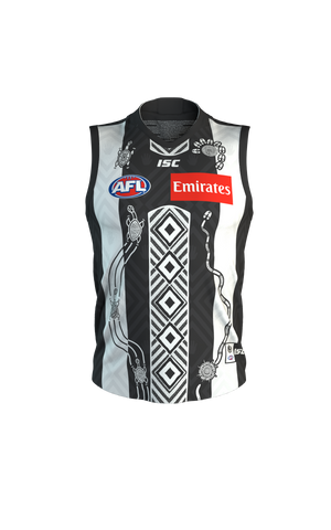 Collingwood 2020 Home Indigenous Guernsey Kids Official Afl Isc 6-14 Brand New - 4517