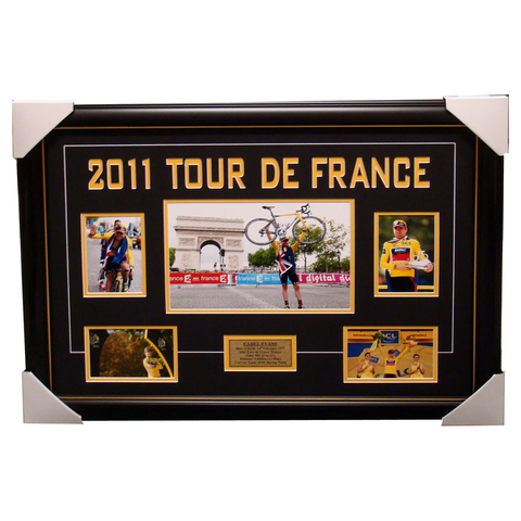 Cadel Evans 2011 Tour De France Champion Collage Framed - 4097