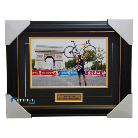 Cadel Evans 2011 Tour De France Champion Photo Framed with Plaque - 1566