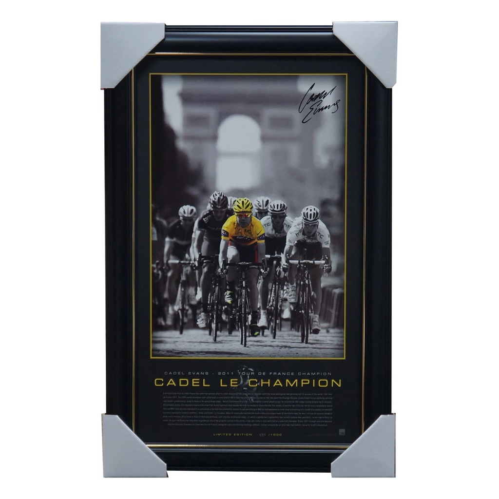 Cadel Evans Signed 2011 Tour De France Champion L/E Official Print Framed - 3467
