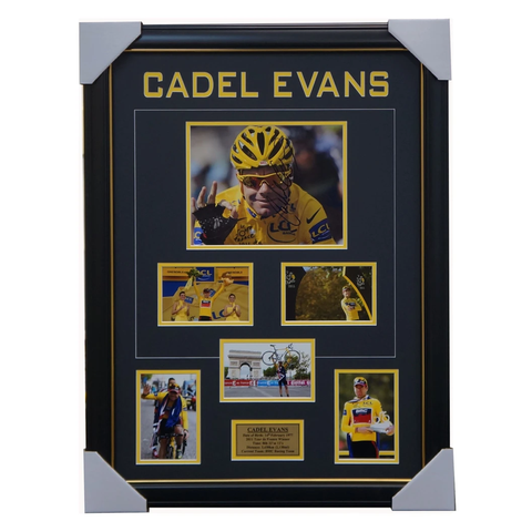 Cadel Evans Signed 2011 Tour De France Champion Photo Collage Framed + COA - 3434