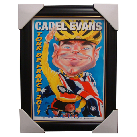 Cadel Evans Wegs World 2011 Tour De France Champion Framed - 3877