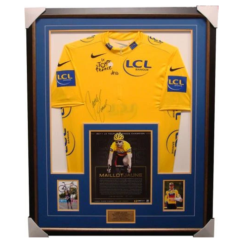 Cadel Evans Yellow Official Tour De France Signed Jersey Framed L/E - 1354