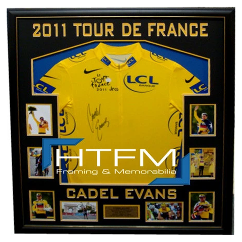 Cadel Evans Yellow Tour De France Official Licensed Signed Jersey Framed L/E - 3894