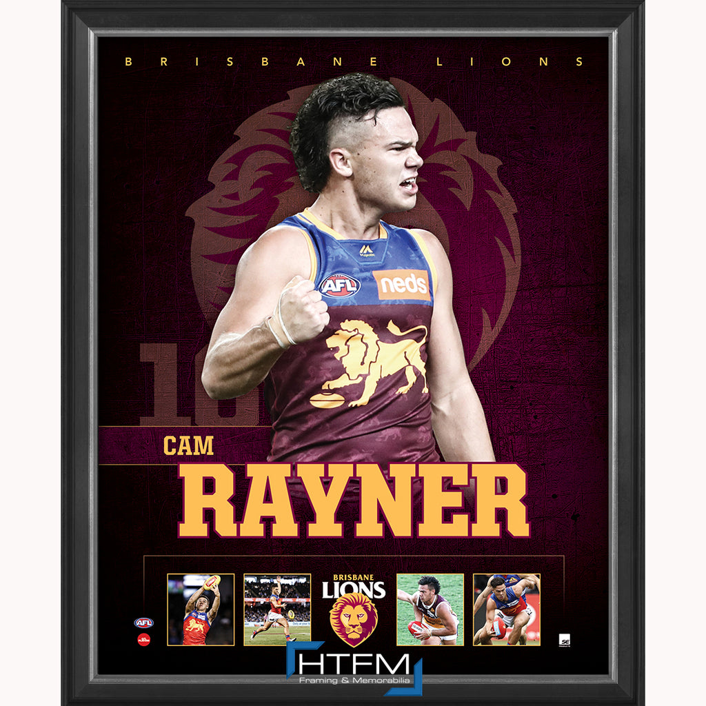 Cameron Rayner Brisbane Lions F.C. Official Licensed AFL Print Framed NEW - 3717