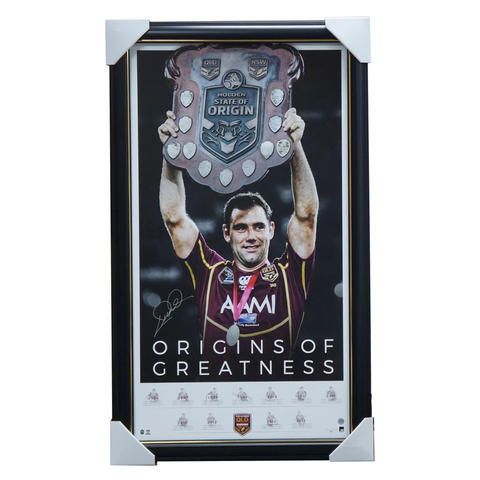 Cameron Smith Signed Queensland Origins of Greatness Official QRL Retirement Print Framed + COA - 3465