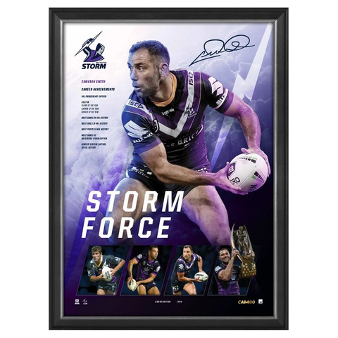 Cameron Smith Signed Storm Force Melbourne Storm 400 Game L/e Official Print Framed - 3728