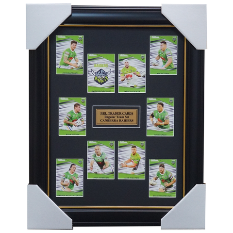 2020 NRL Traders Cards Canberra Raiders Team Set Framed Hodgson Croker Papalii - 4019