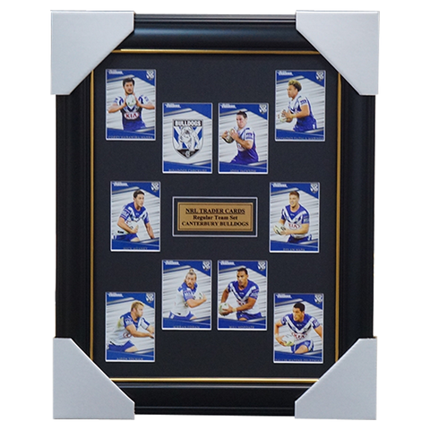 2020 NRL Traders Cards Canterbury Bulldogs Team Set Framed Jackson Napa Meaney  - 4020