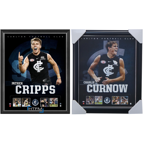Carlton Package Official Licensed AFL Prints Framed Cripps Curnow - 4451