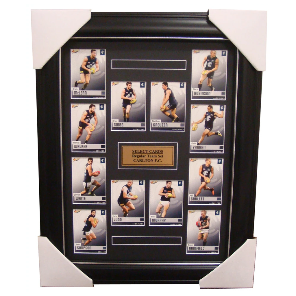 Carlton 2014 Limited Edition Select Cards Set Framed - Judd Murphy Gibbs Simpson - 1701
