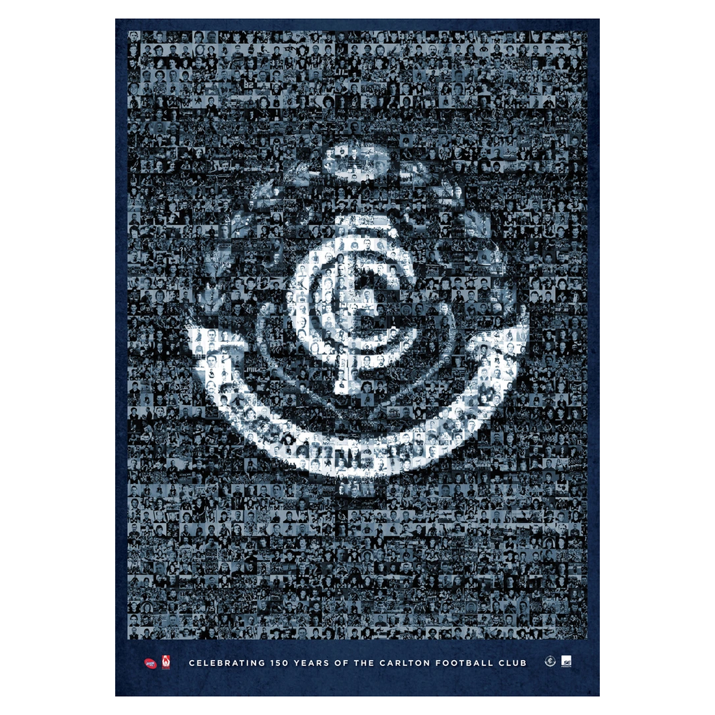 Carlton Football Club 150 Years Mosaic Afl Limited Edition Print Only Silvagni - 2857