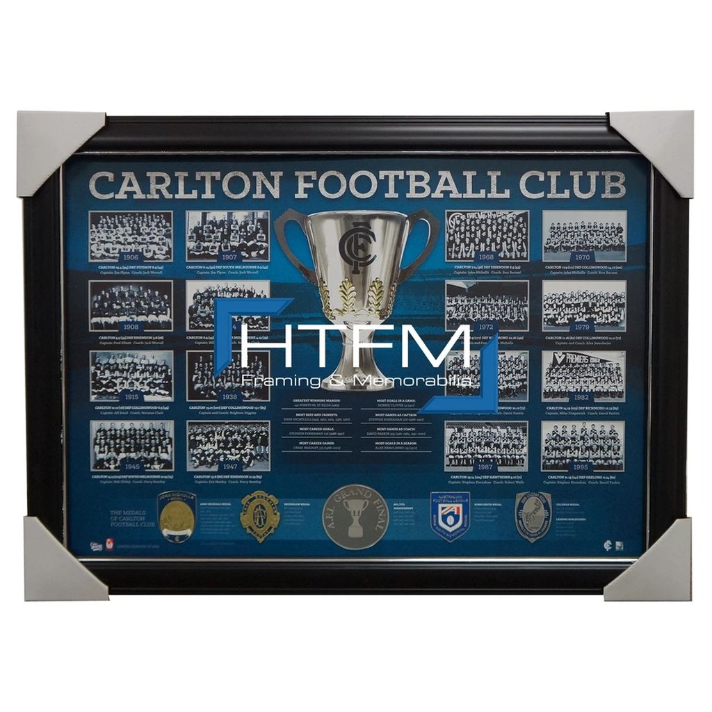 Carlton Historical Series Premiership AFL Licensed Print Framed Kernahan Doull - 1899