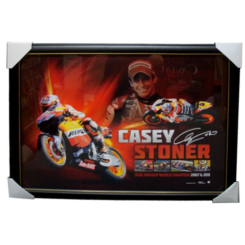 Casey Stoner 2011 World Champion Official Signed Facsimile L/E Print - 3865