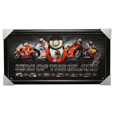 Casey Stoner King of the Island Fasimile Signed Print Framed - 4113