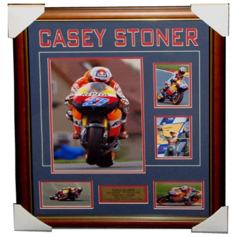 Casey Stoner Repsol Honda Photo Collage Framed - 3550