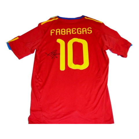 Cesc Fabregas Spain World Cup Champions 2010 Signed Jersey - 2787